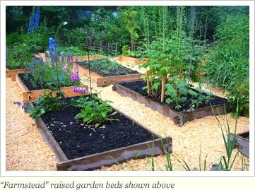 Raised Gardens Ideas here is a series of smaller raised garden beds over a large area there is Raised Garden Beds