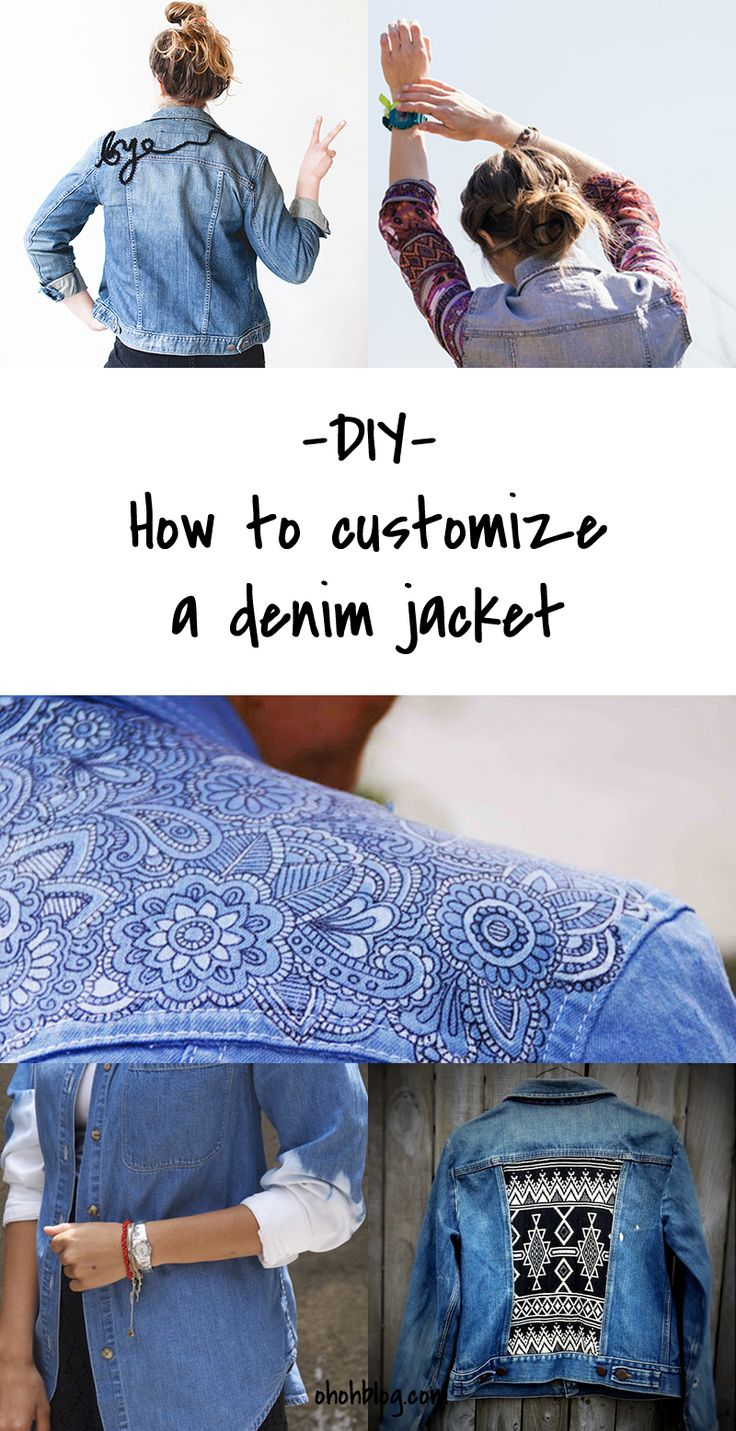 How to customise your denim; would work with other fabrics. #DIY fashion