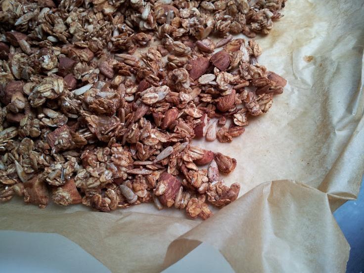 Sund æblegrøds-müsli med kanel og mandler