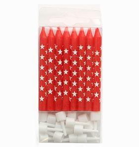 Trucks and Trikes Birthday; 1 pack of 16 star candles, comes with the Standard and Deluxe Packs