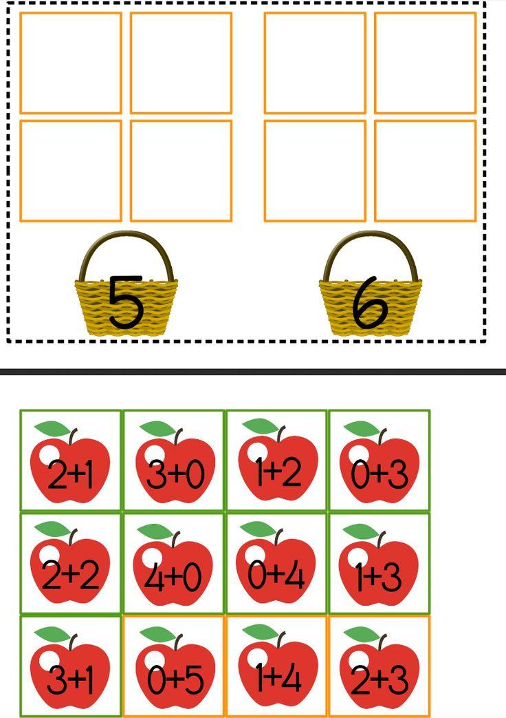 Petit jeu d'additions simples sur le thème des #pommes #maths #free #printables