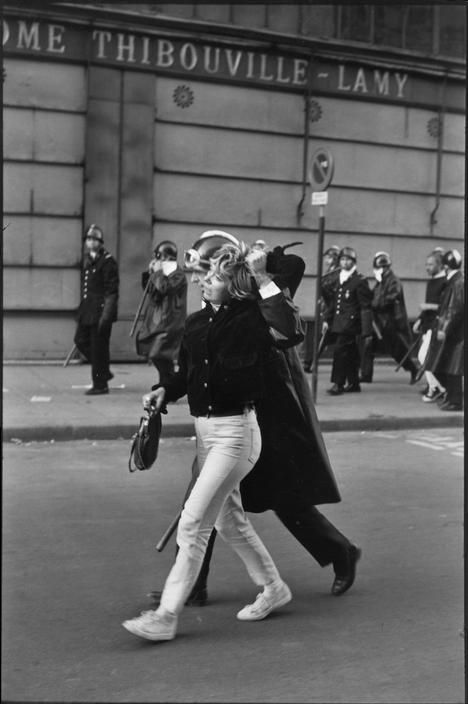 Henri Cartier-Bresson // France, Paris, 1968 - Demonstrator arrested by the riot police.