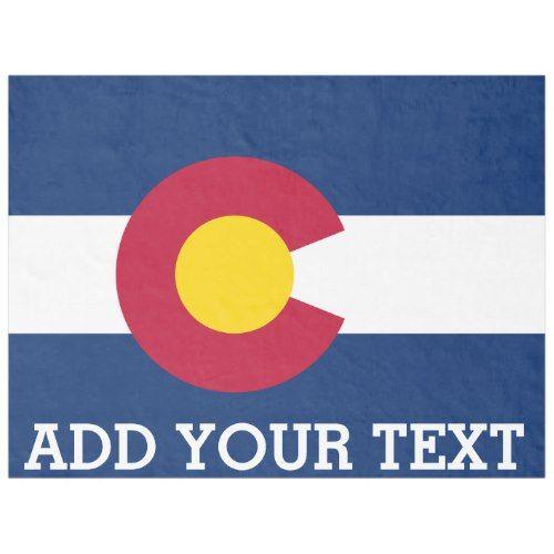 Personalized Flag of Colorado Fleece Blanket