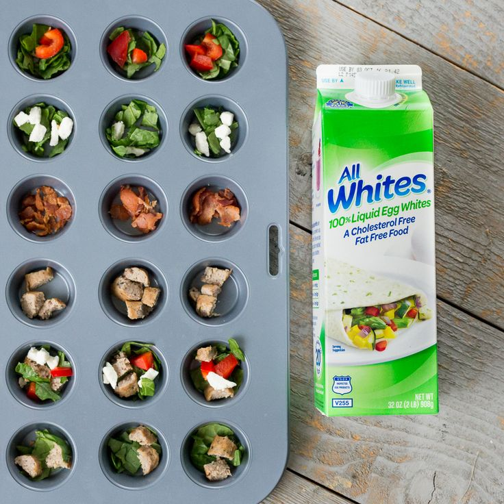 Here are 5 insanely easy breakfast recipes that will give you a morning boost. These healthy egg white cups are packed full of protein and is a quick on-the-go breakfast snack. You can make one batch to last a full week. #sponsored  *Crazy easy way to start your day with eggs