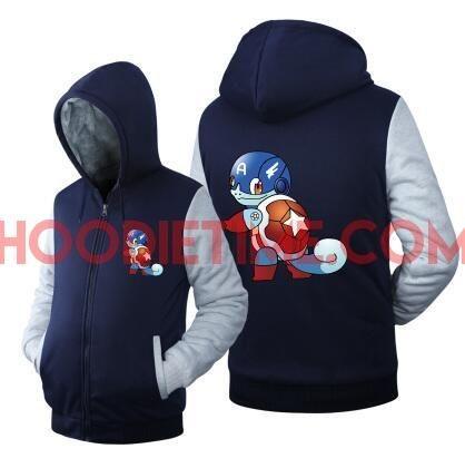 Pokemon - Fleece Zip-up Hoodies - Charmander in ironman suit, Pikachu and more.