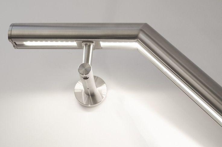 Lumigrip trapleuning met led product illunox rvs trapleuning met doorlopende led - Mezzanine verlichting ...