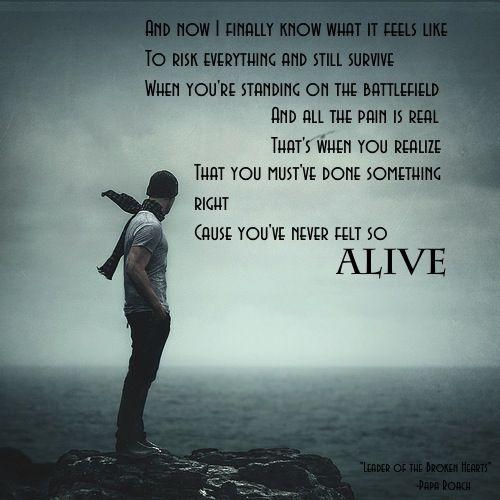 Song Lyrics Leader Of The Broken Hearts By Papa Roach
