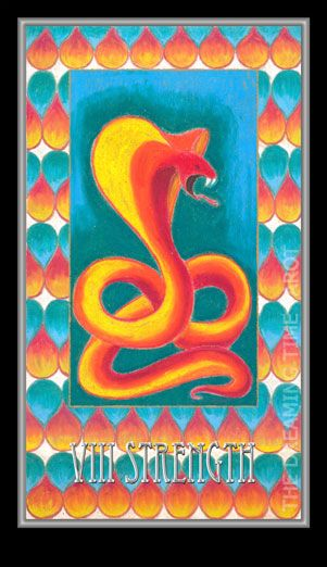 Strength. Number 8. Passion. Peace amidst the storm. Fearless. Dreaming Time Tarot