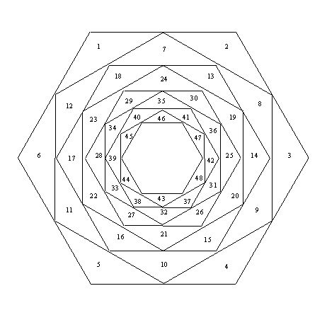 Free Iris Folding Patterns – HexagonReverse the order for PP quilting