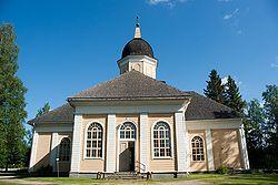 Jakob Rijfin rakentama Hyrynsalmen kirkko, jossa Johan Snellman oli kirkkoherrana.