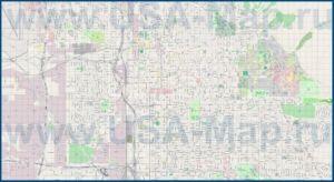 Подробная карта города Солт-Лейк-Сити