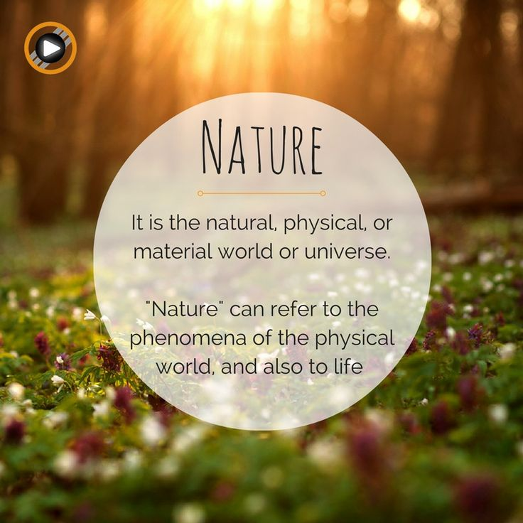 Time to get clear on what does Nature really mean #nature #definition #changeisgood