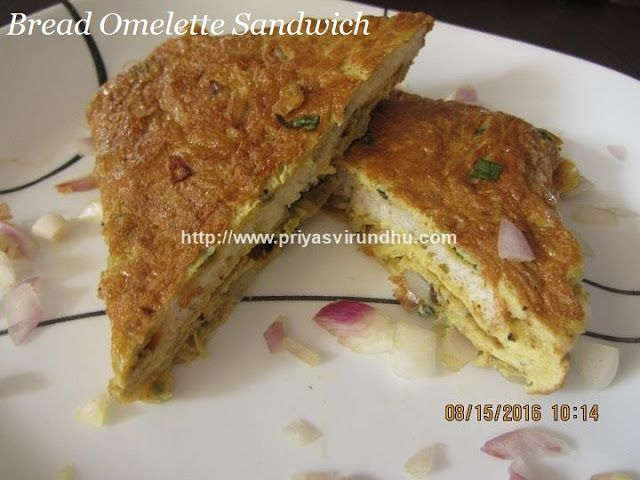 Priya's Virundhu....: Bread Omelette Recipe/Bread Omelette Sandwich /Indian Street Style Egg Omelette Recipe