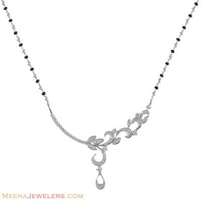 White Gold modern Mangalsutra ( Diamond MangalSutras )
