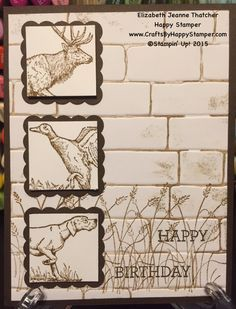 Clean and Simple Masculine Birthday Card. Stampin Up the Wilderness Awaits hunting card stamp set