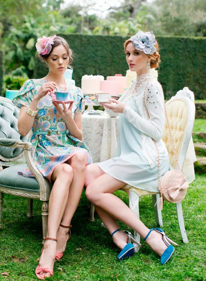 17 Best ideas about High Tea Outfit on Pinterest | Tea party outfits Rockabilly wedding guest ...