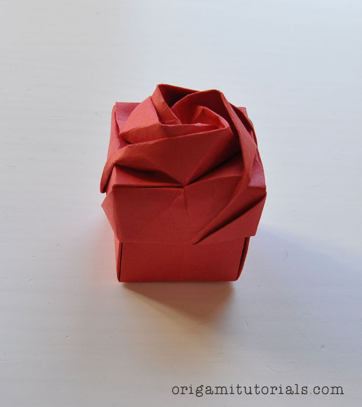 Origami Rose Box Tutorial                                                       …                                                                                                                                                                                 Más