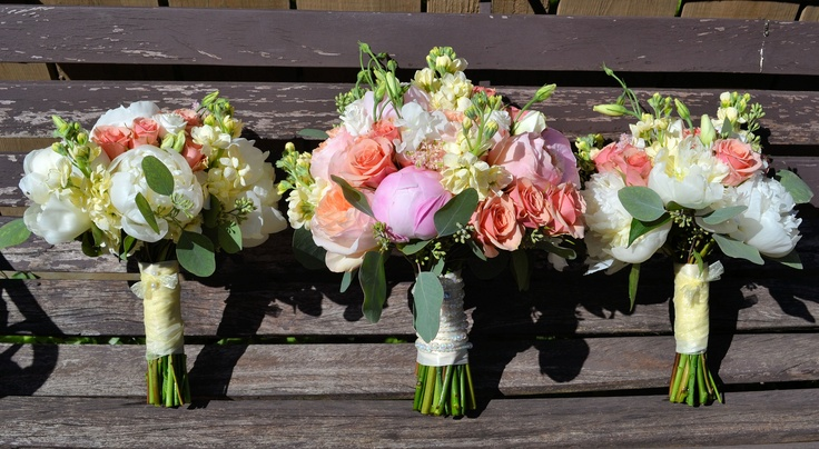 peonies, roses, stock, lisianthus, seeded euc,