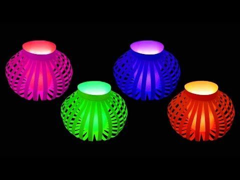 How to Make Fancy Paper Lantern Ball (Christmas Crafts) : HD, My Crafts and DIY Projects