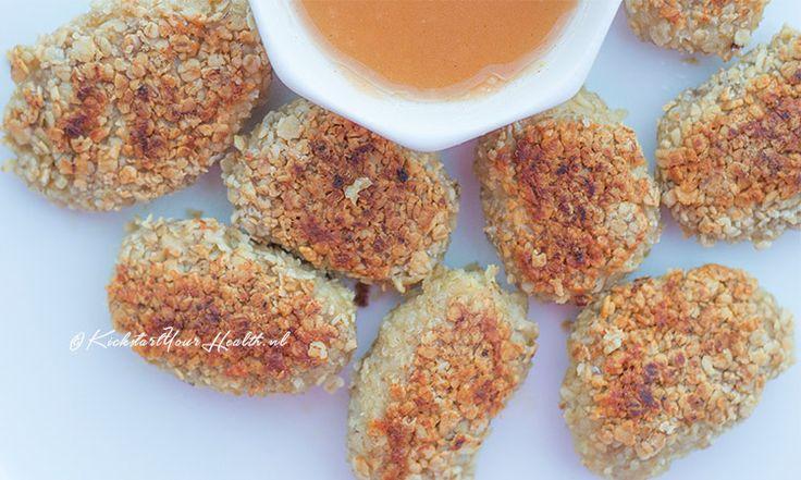 Deze gezonde zelfgemaakte kipnuggets maak je eenvoudig & snel met maar 3 ingrediënten! Creëer eindeloze smaaksensaties door specifieke meelsoorten & kruiden