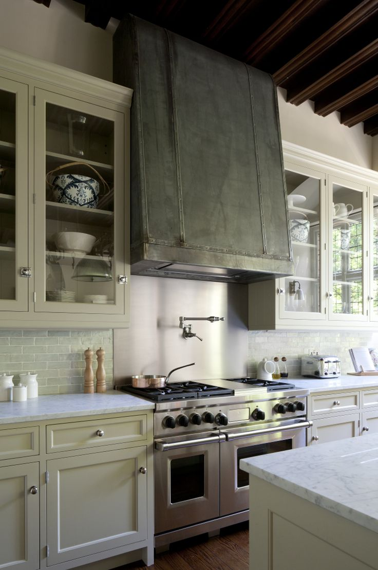 Acid Etched Zinc Extractor Canopy In A New England Style Kitchen By  Artichoke, Kitchen American