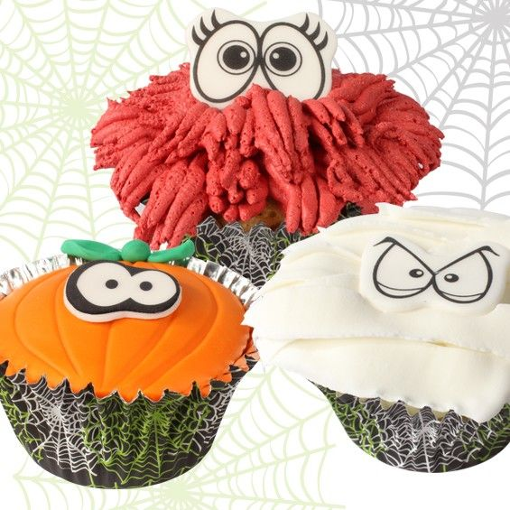 not so scary cupcakes to view the tutorial please visit http cake decorating tutorialshalloween cupcakescupcake