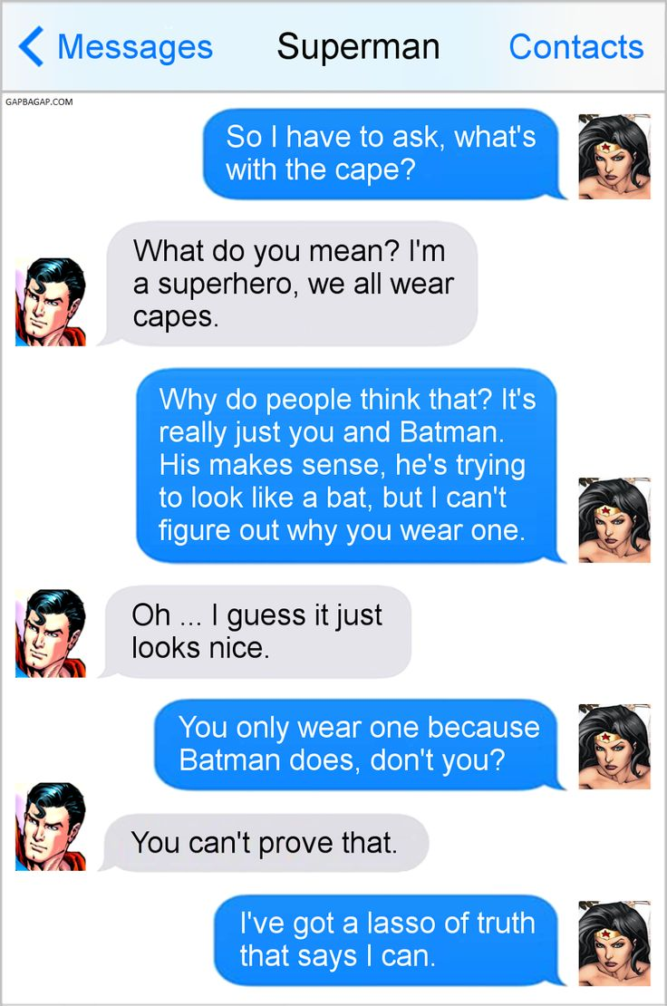 Hilarious Text Message By Superman