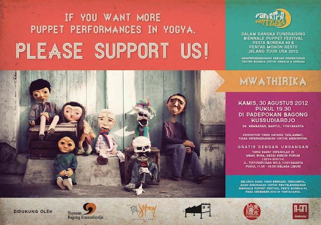 support pesta boneka #3 #papermoonpuppettheatre