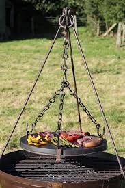 Kadai stone grill plate and tripod, over Kadai fire bowl - boda home
