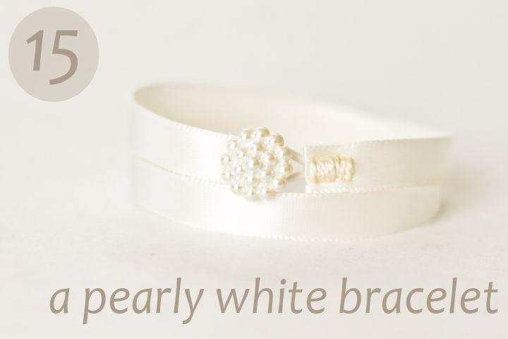 Pearly White - a diy bracelet