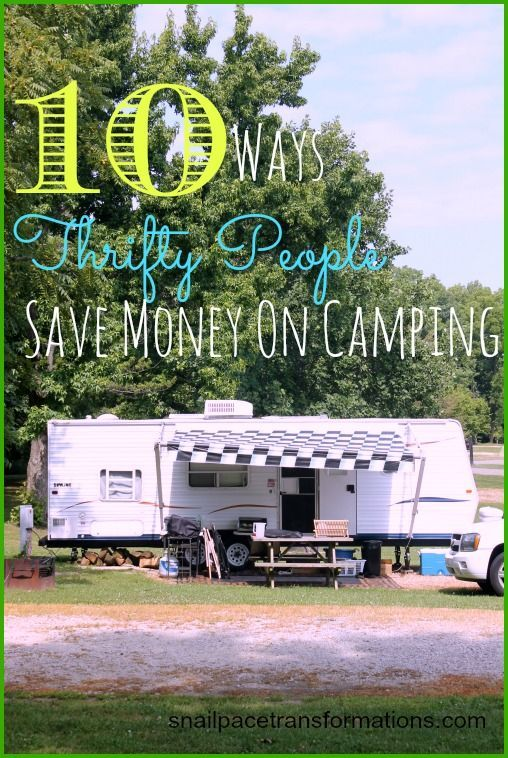 10 Ways Thrifty People Save Money On #Camping. From how to buy second hand supplies to how to save money on camp food.
