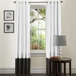 Can you find me these, but NOT faux silk???    Lush Decor Black and White Prima 84-Inch Curtain Panels (Set of 2)