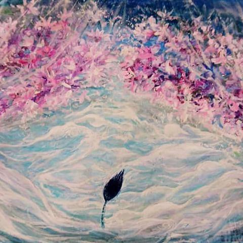 【azraellevandefuxx】さんのInstagramをピンしています。 《@Regrann from @artko.iloveart: feather on imagination. *** #curtain #exit #entrance #gateway * #桜 #羽 #cherryblossoms #cherrytree #flower #feather #sakura #bluesky #sky #pink #bird #artist #artinnyc #fineart #japanart #urbanart #contemporaryartcurator #design #contemporaryart #emergart #sculpture #painting #drawing #beautifulart #modernart *出口 *入口 *カーテン #描くは旅…
