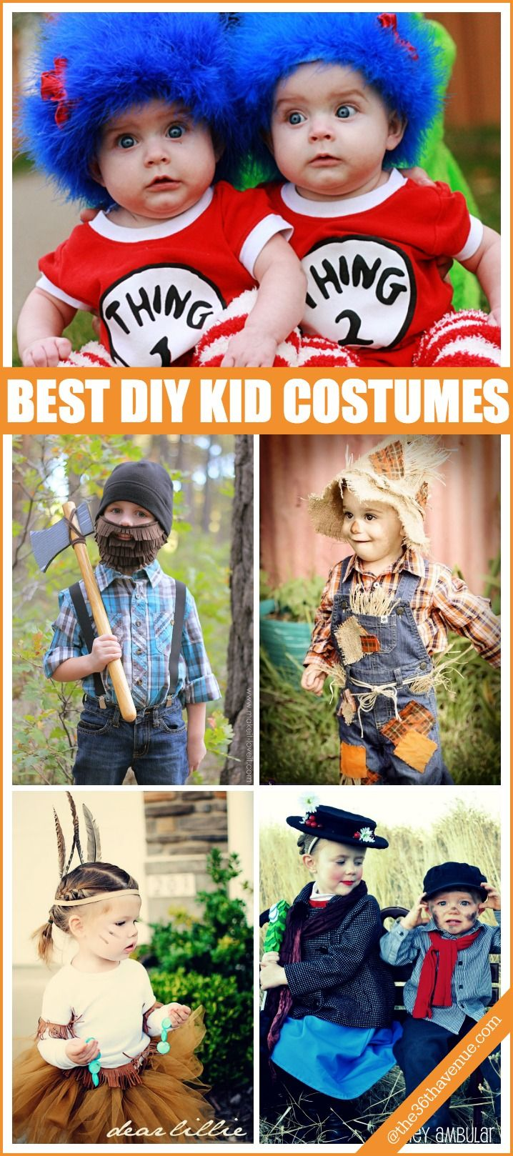 Halloween Costumes for Kids... These are seriously the best DIY Costumes EVER!!! at the36thavenue.com: