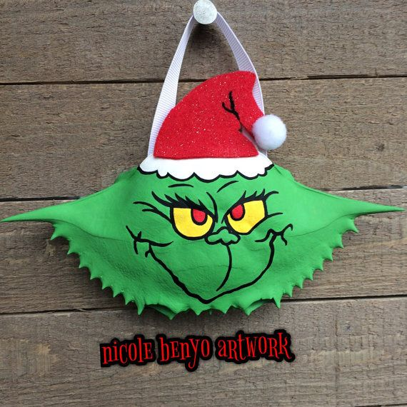 Dr. Seuss's The Grinch Hand Painted Crab Shell