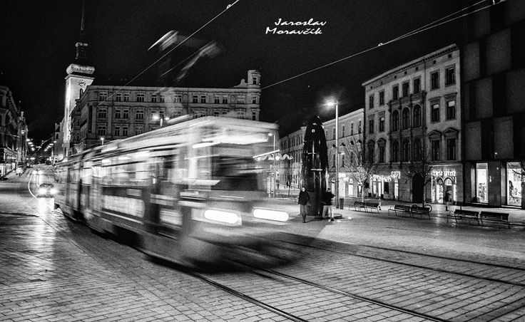 Tramway in city Brno, Czech republic