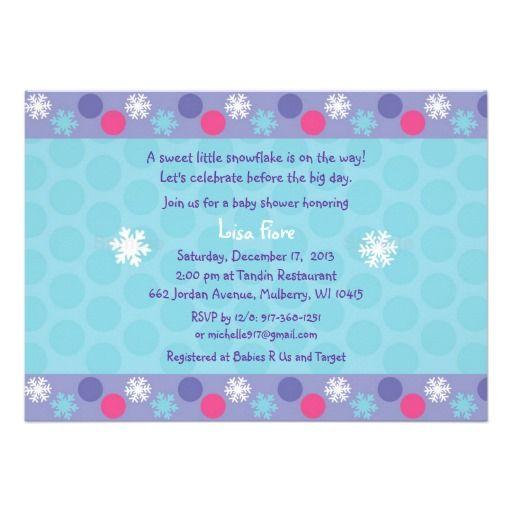 Winter Snowflake Baby Shower Invitations