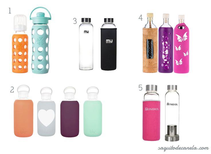 ¿Adiós plástico! Hola botellas de vidrio para viaje