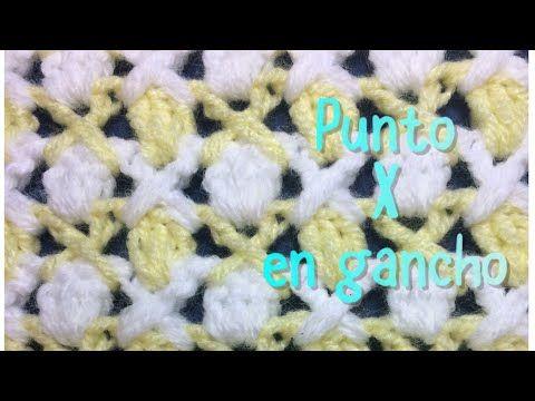 """Puntada de abanicos con punto """"V"""" en gancho para cobijitas de bebe y principiantes #63 - YouTube"""