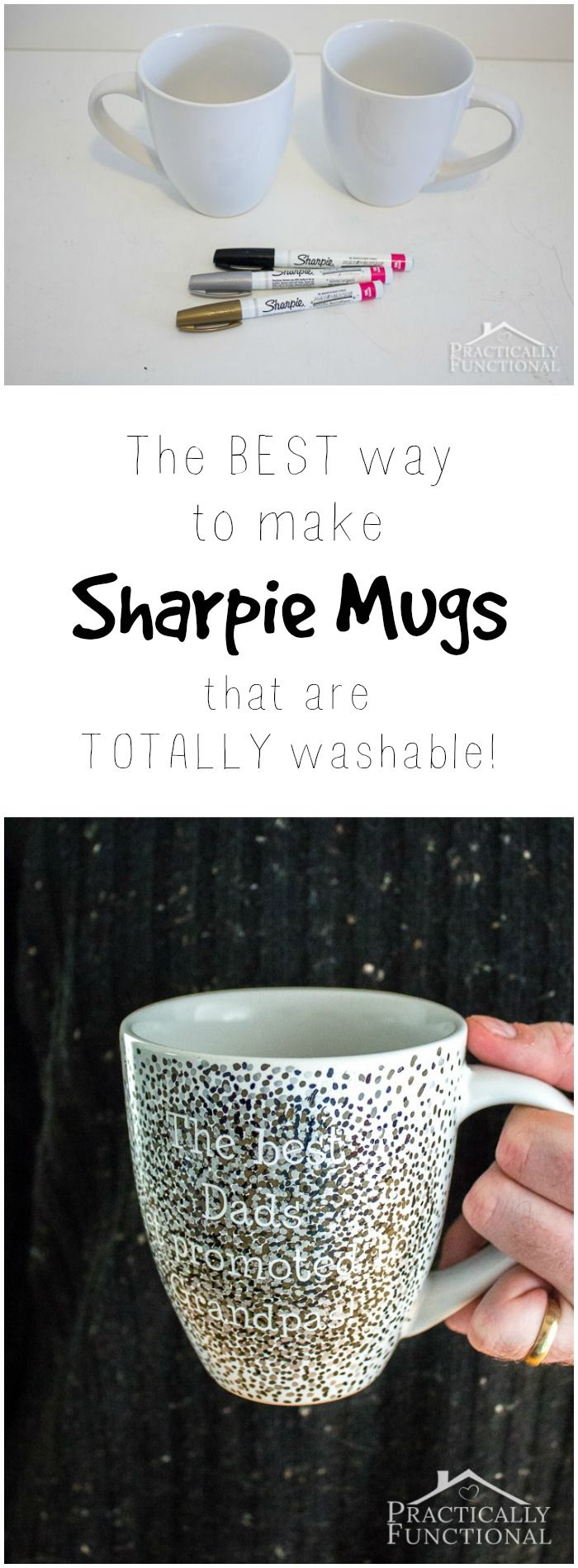 This is the best tutorial for making DIY sharpie mugs that are washable! #SilhouetteCAMEO