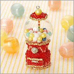 Gum ball machine made of beads!