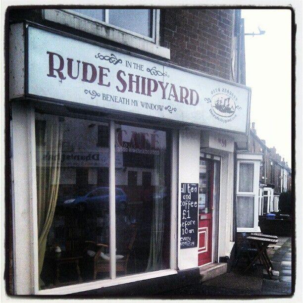 Visit Sheffield: The Rude Shipyard Cafe/Bookshop