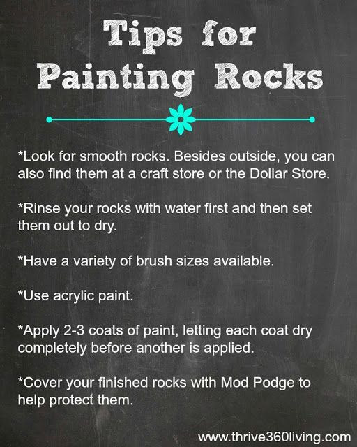 Rock Painting Tips
