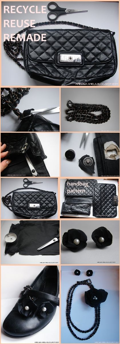 re use re made diy jewellery handbag :)