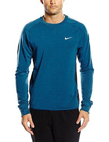 NIKE t-shirt à manches longues en maille dri-fit crew sprint S Bleu - Blue Force/Dark Obsidian/Reflective Silv Nike http://www.amazon.fr/dp/B00KI24ZWE/ref=cm_sw_r_pi_dp_aXTIwb0NS21P3