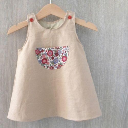 robe trap ze intemporels pour b b au fil de la lune blog couture sewing pinterest. Black Bedroom Furniture Sets. Home Design Ideas