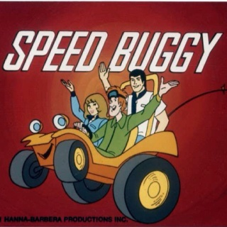 Speed Buggy.  I remember this.  kind of a re-imagined Scooby-Doo.