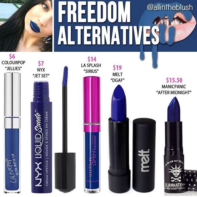 Kylie Jenner lip kit dupe Freedom                                                                                                                                                     More