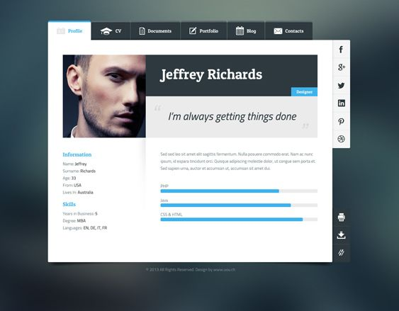 11 best More of the Best Resume, CV \ vCard WordPress Themes - top resume sites