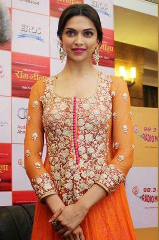 Deepika Orange Anarkali | Veeshack Shop